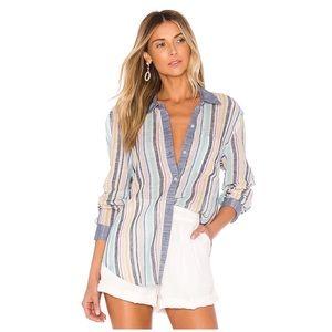 Splendid X Gray Malin • playa stripe linen shirt